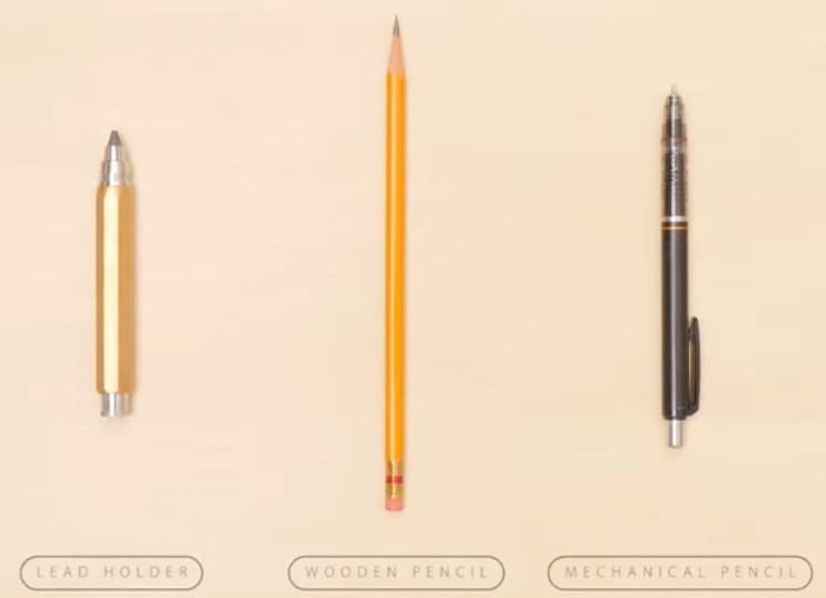 Lead Holder vs pencil vs mechanical pencil